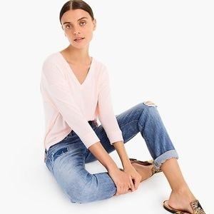 J. CREW Supersoft V-Neck Pale Pink Sweater #C10